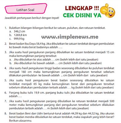 Kunci Jawaban Latihan Soal Halaman 99 100 101 102 Kelas 4 Senang Belajar Matematika Kurikulum 2013 www.simplenews.me