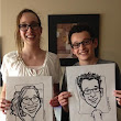 Laurel Hawkswell - Edmonton Artist: Birthday Party Caricatures