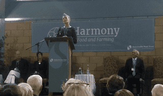 Gunhild Stordalen speaking at the Harmony in Food and Farming conference, July 2017.