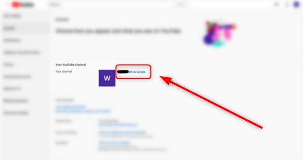 how to change name youtube-edit on google