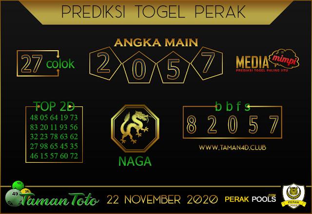 Prediksi Togel PERAK TAMAN TOTO 22 NOVEMBER 2020