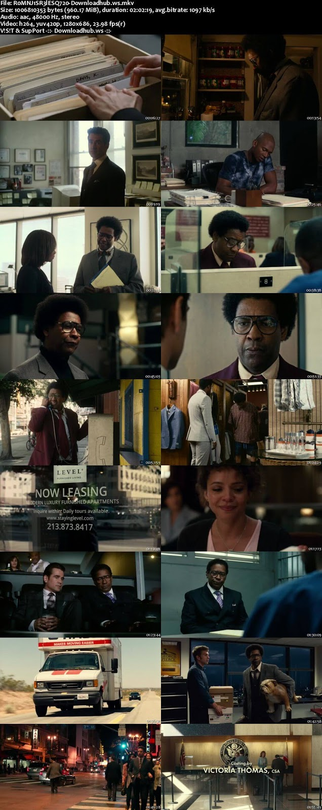 Roman J. Israel, Esq. 2017 English 720p Web-DL 950MB
