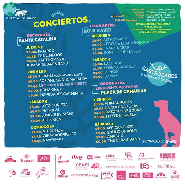 Conciertos, Womad Gran Canaria 2019