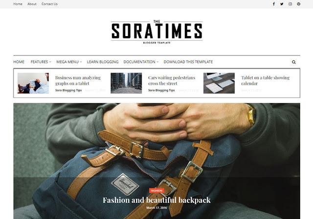 Sora Times Blogger Template