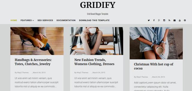Gridify Responsive Blogger Templates
