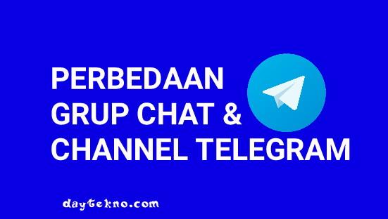 Perbedaan grup chat dan channel di telegram