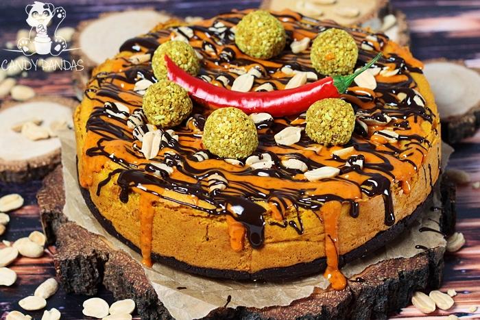 """""""Sernik"""" z okary z nutą chilli (bez glutenu, cukru białego, laktozy, wegańskie)"""