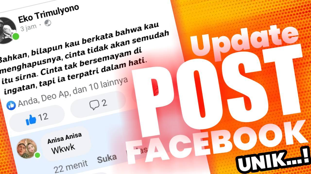 Cara Memposting Status Di Facebook Yang Menarik