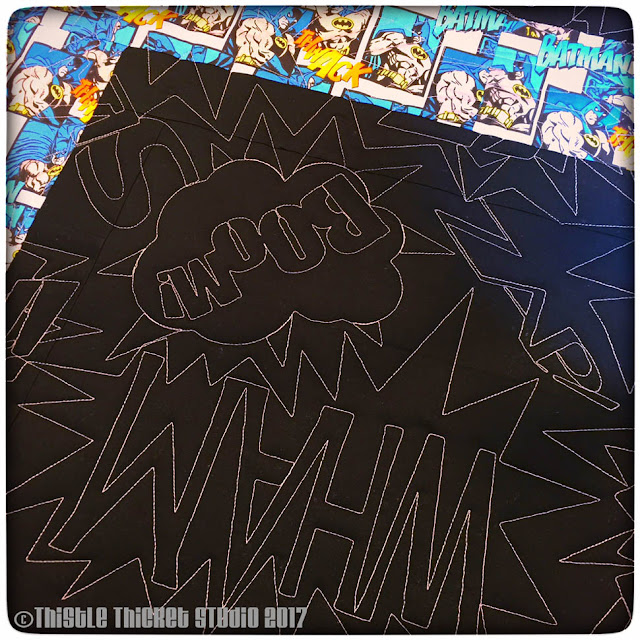 Thistle Thicket Studio, lego batman, lego quilt, batman quilt, quilts, quilting