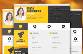 Free Download Goomsite ProfilevCard Responsive Blogger Template Premium Version