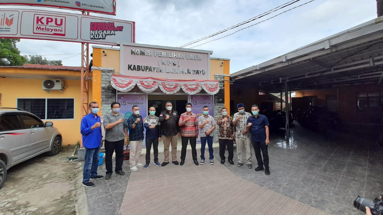 Anggota Bawaslu RI Kunjungi KPU Kabupaten Labuhanbatu