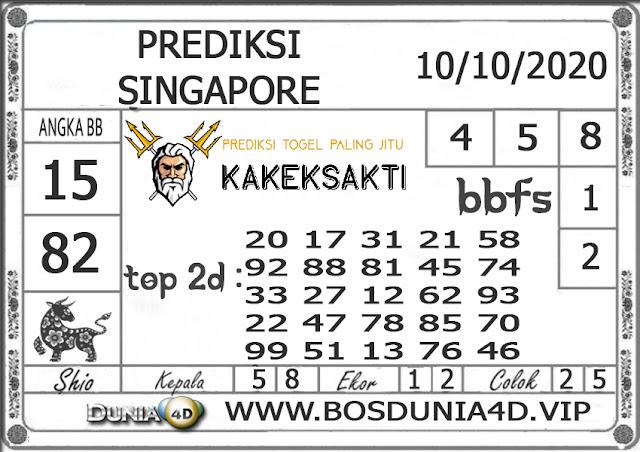 Prediksi Togel SINGAPORE DUNIA4D 10 OKTOBER 2020