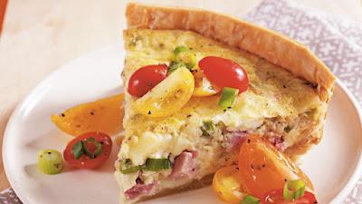 Ham-Tomato-Swiss-cheese-Quiche-lorraine-Recipe