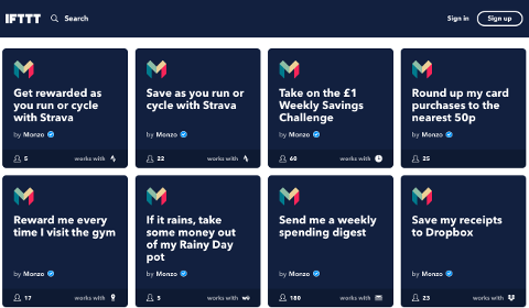 Monzo on IFTTT