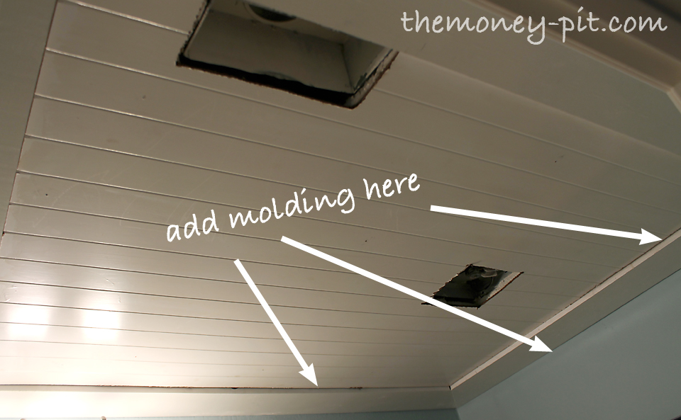Installing A Beadboard Ceiling The Kim Six Fix - Can you put beadboard over popcorn ceiling