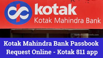 Kotak bank passbook request online
