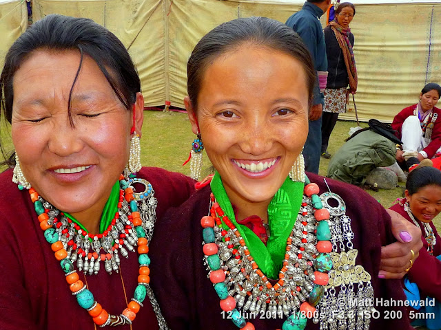 people, portrait, double portrait, street portrait, Northern India, Ladakh, Ladakhi women, traditional costume, goncha, Facing the World, © Matt Hahnewald