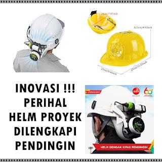 Helm Proyek Dilengkapi Pendingin