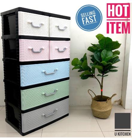 Storage Drawer Cabinet Murah di Shopee