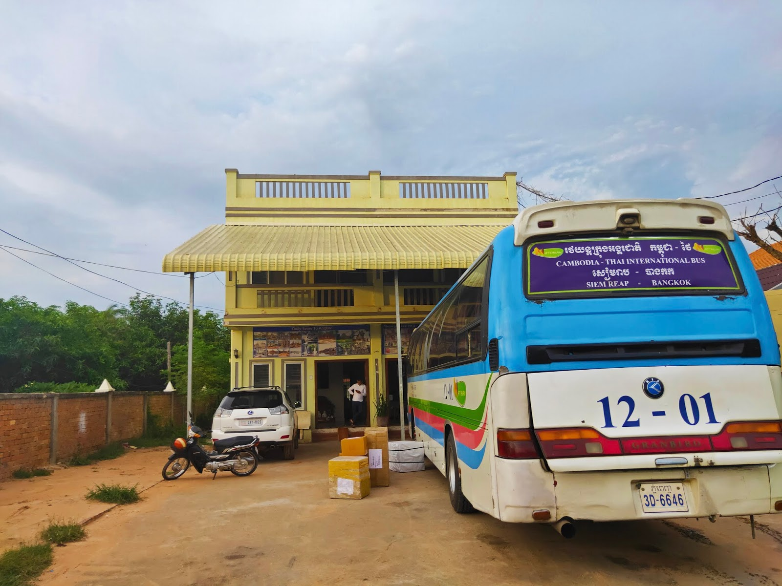bus stop in siem reap