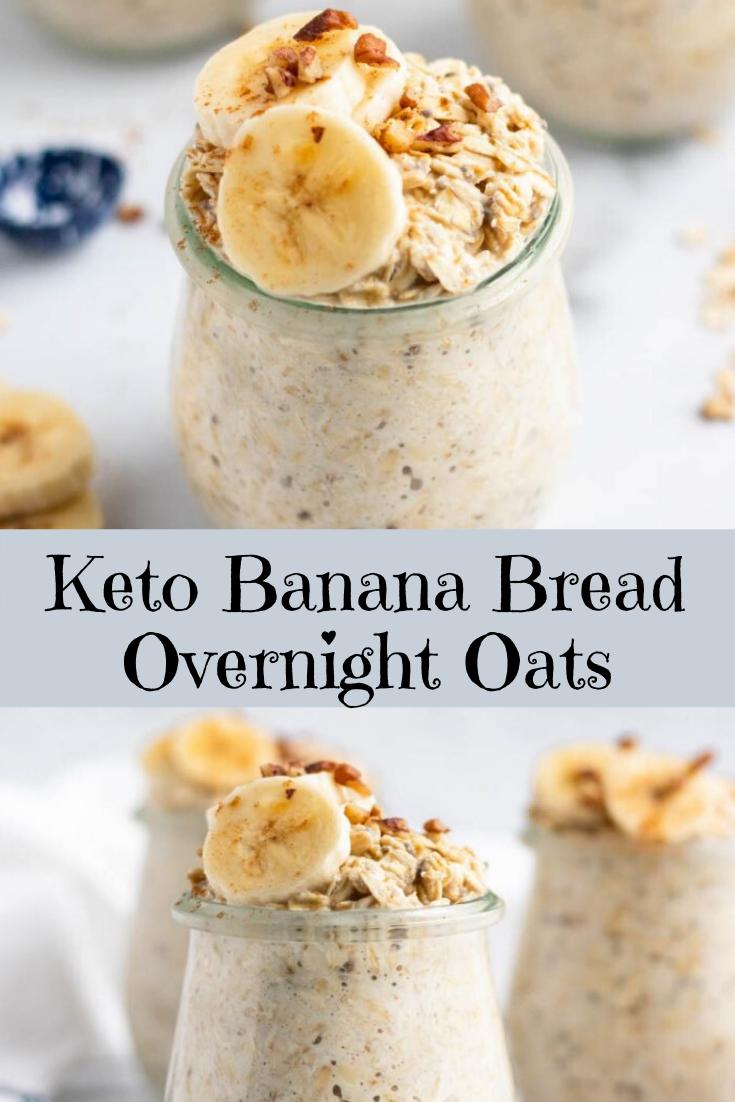 Keto Banana Bread Overnight Oats