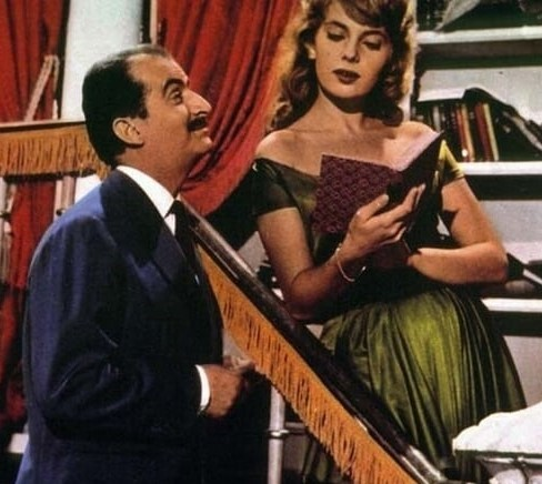 1959. Louis de Funes, Abbe Lane - Totó, Eva e il pennello proibito