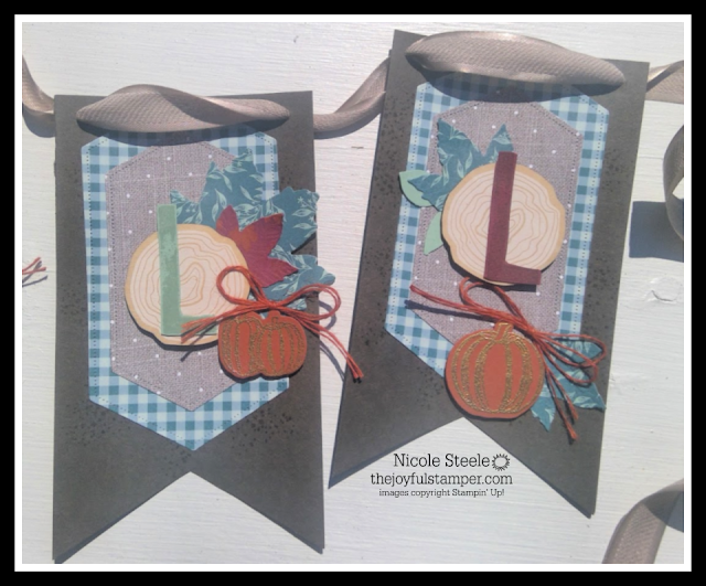"""L"" and ""L"" of fall banner made with Stampin' Up!'s Come To Gather suite by Nicole Steele The Joyful Stamper"