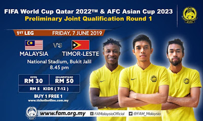 [LIVE] Malaysia vs Timor Leste 7.6.2019 (World Cup Qualification)
