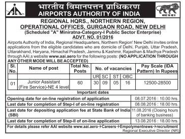 Airports Authority of India Recruitment 2016