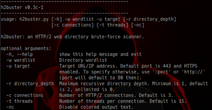H2Buster : A Threaded, Recursive, Web Directory Brute-Force Scanner Over HTTP/2