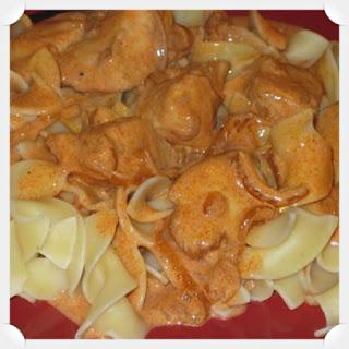 Chicken (or Mushroom) Paprikash