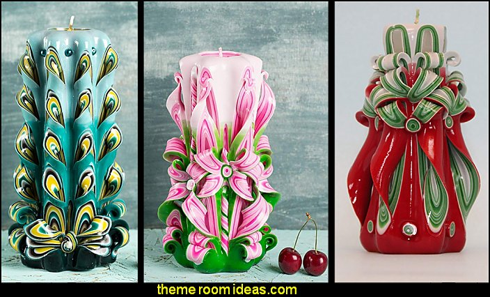 Candles Unique Hand Carved Kitchen Accessories Fun Decor Decorative Themed