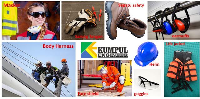 APD, helm proyek, sepatu safety, k3, alat keselamatan