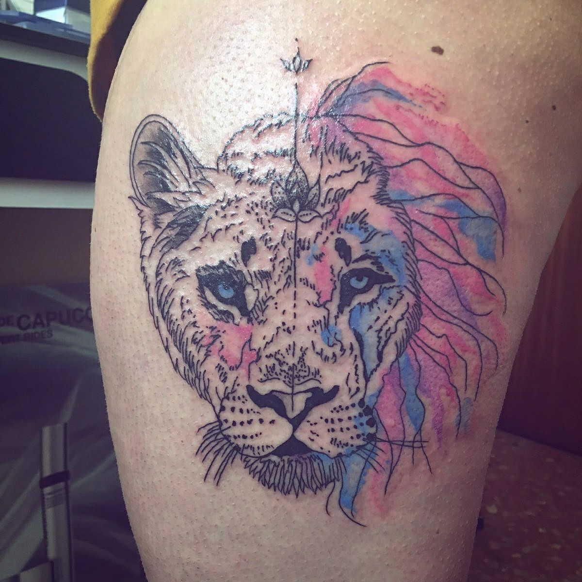 León Leona Watercolor Lion Watercolor Tattoo The Queen Of Ink