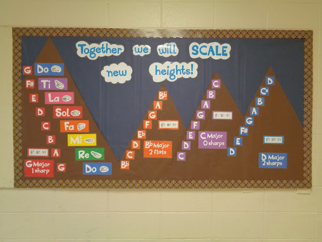Together we will SCALE new heights beginning-of-the-year bulletin board