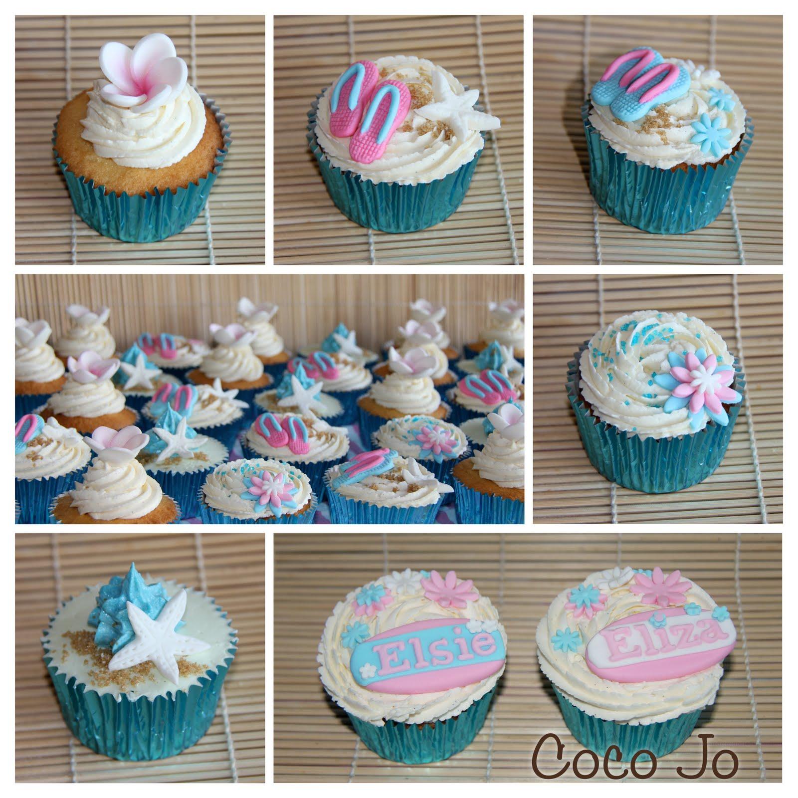 Coco Jo Cake Design Beach Theme Cupcakes