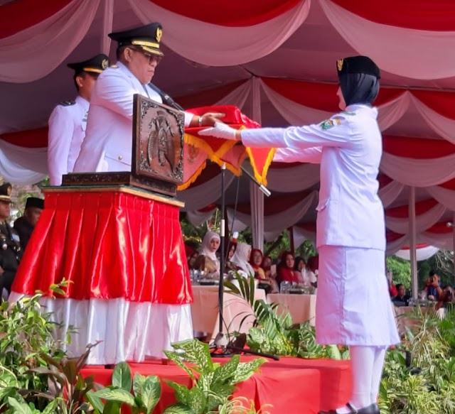 Upacara HUT Kemerdekaan RI Pemkab Muara Enim Berlangsung Sukses