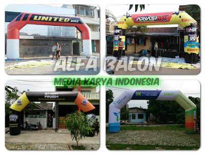 balon gate, balon gapura, balon start finish fun walk, fun bike, fun run, pameran, maraton, jalan santai,