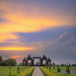 Panorama Senja dari Candi Ratu Boko Jogjakarta