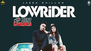 Low Rider By Jassa Dhillon - Lyrics