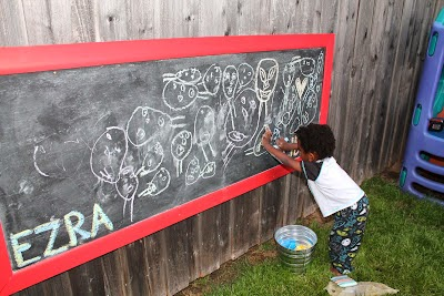 Bring the fun and learning outside! Ideas for creating kid-friendly outdoor play areas by Spit and Sparkles Blog. #childsplay #play #outdoorplay #summerfun #totschool