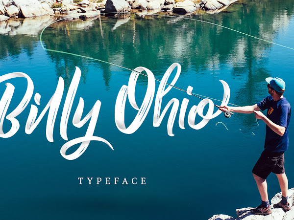Billy Ohio Dry Brush Style Font Free Download