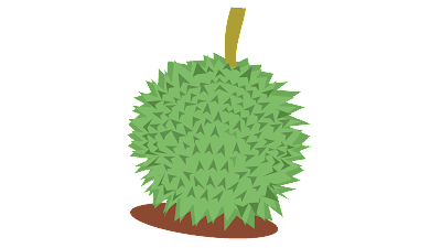 clipart buah durian