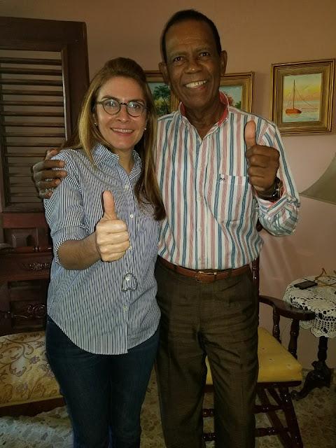 Carolina Mejía visita residencia del presidente del PRM en Barahona Ing. Montero Arias
