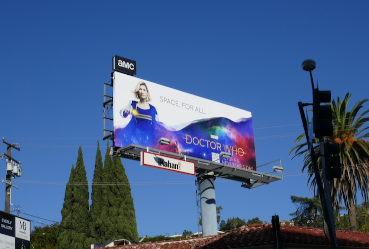 Doctor Who season 12 billboard Sunset Strip