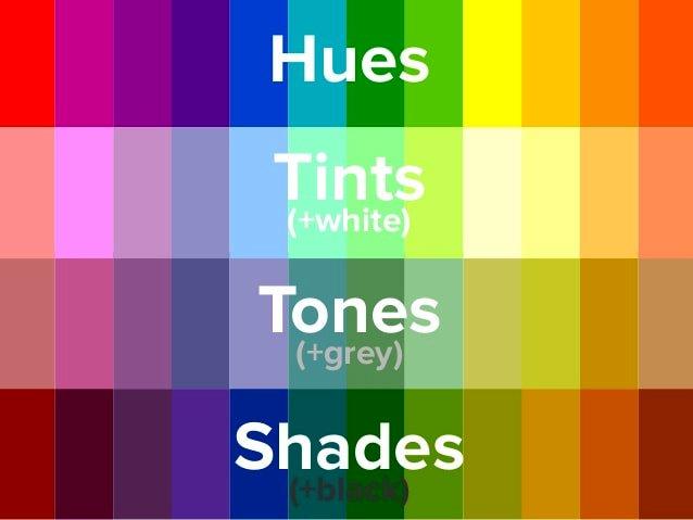 Perbedaan Hue, Tint, Tones & Shades dalam Warna