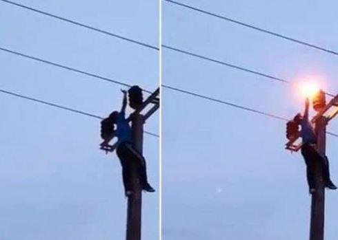 شاب ينتحر بصعقة كهربائية بأرفود !