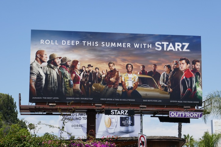 Roll deep this summer Starz billboard