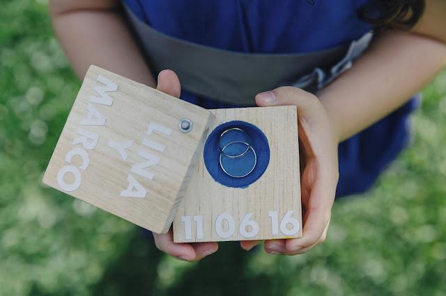 porta alianzas de madera - blog mi boda