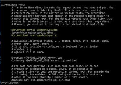Konfigurasi Root Directory Portal